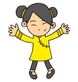 girl Chinese character vector image vector image