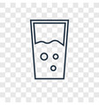 glass concept linear icon isolated on transparent vector image