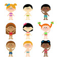 group children in swimsuits vector image