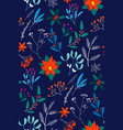 hand drawn floral christmas seamless pattern with vector image vector image