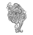 Hand Drawn Ornament with floral pattern vector image vector image