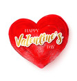 happy saint valentines day greeting card with red vector image