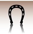 Horseshoe black icon vector image vector image