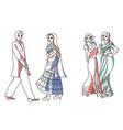 indian fashion set vector image
