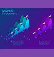 isometric set infographics with data financial vector image vector image