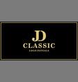 jd monogram classic logo design inspiration vector image vector image