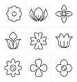 Line Icons Style Flower Icons Set Design vector image vector image
