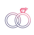 line wedding ring to symbolic the love vector image vector image