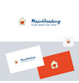 love house logotype with business card template vector image
