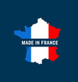made in france map colorful logo vector image