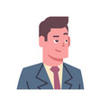 male cunning smiling emotion icon isolated avatar vector image vector image