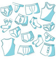 male underwear icon set vector image vector image