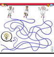 maze game with scientist characters vector image vector image
