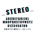 modern stylized stereoscopic stereo vector image vector image