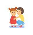 mom and daughter hugging embracing each other vector image vector image