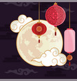 moon lanterns decoration vector image vector image