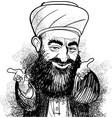 muslim hodja vector image