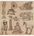 Native and old art pack - hand drawn vector image vector image