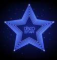 neon sign of disco star vector image