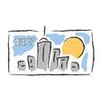 NY drawn cityscape symbol vector image vector image