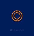 o monogram circle logo vector image