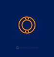 o monogram circle logo vector image vector image