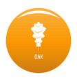 oak leaf icon orange vector image vector image