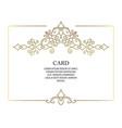 ornate decor border for invitation card vector image vector image