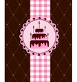 Postcard with cake vector image vector image
