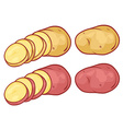 Potatoes with cuts vector image vector image