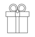 present gift box isolated symbol in black and vector image vector image
