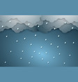rain background paper art style vector image vector image