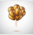realistic 3d glossy golden ballons vector image