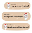 Santa Clause messages vector image