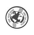 save world logo vector image vector image