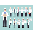 senior doctor medical and hospital staff character vector image