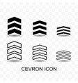 set cevron icon simple flat style vector image vector image