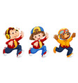 set cute characters vector image vector image