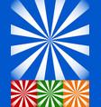 set of colorful sunburst starburst backgrounds vector image