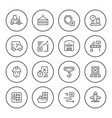 set round line icons of logistics vector image vector image