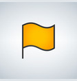 simple of yellow flag on white background mark vector image