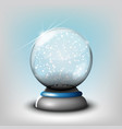 snow glass transparent ball on a vector image vector image