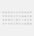 social media icon set flat thin line graphic vector image