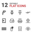 solid icons vector image vector image