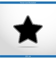 star web flat icon vector image vector image