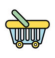 supermarket basket element to buy products vector image