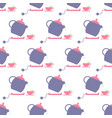 tea pot pattern vector image