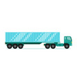 Truck trailer with container long vehicle with