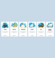 uae website and mobile app onboarding screens vector image