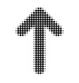 up arrow halftone dotted icon vector image